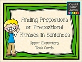 Finding Prepositions in Sentences