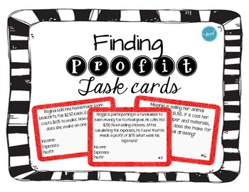 Finding Profit (task cards)