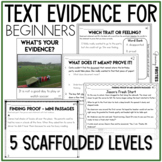 Text Evidence Inferencing and Test Prep for Beginning Readers Digital Bundle