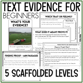 Finding Proof - Text Evidence - Making Inferences - Using