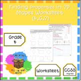 Finding Properties In 2D Shapes Worksheet - Grade 4 Geomet