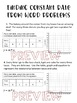 Finding Rate of Change from a Word Problem Worksheet, Homework or Quiz