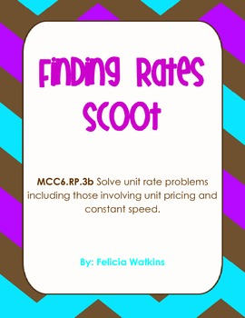 Finding Rates Scoot *Common Core Aligned*