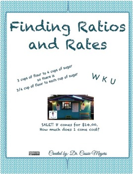 Finding Ratios and Rates Activity