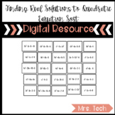 Finding Real Solutions to Quadratic Equations Sort DR