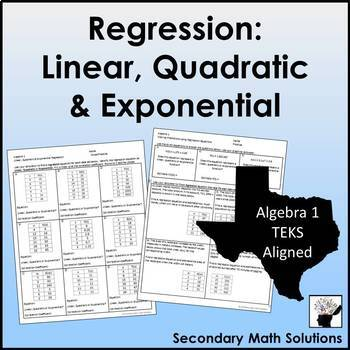 Finding Regression Equations Mixed Practice