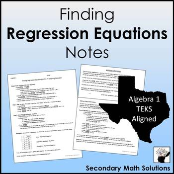 Finding Regression Equations Notes