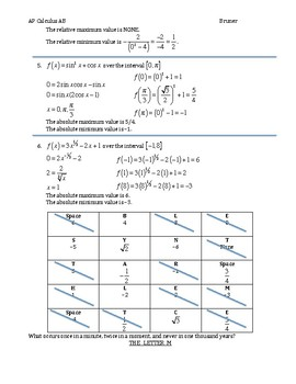 Finding Relative and Absolute Values