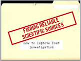 Finding Reliable Scientific Sources PowerPoint Presentation