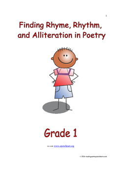 Finding Rhyme, Rhythm, and Alliteration in Poetry: Introduce/Practice/Assess