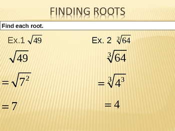 Finding Roots PowerPoint