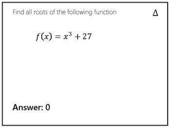 Finding Roots with degree and synthetic division