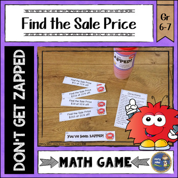 Finding Sale Prices Don't Get ZAPPED Math Game