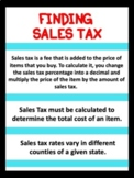 Finding Sales Tax