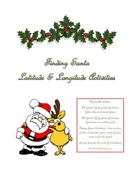 Finding Santa - A Latitude & Longitude Set of Activities