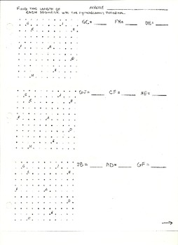 Finding Segment Lengths on Dot Paper
