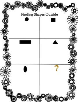 Finding Shapes Outside - Kindergarten Geometry