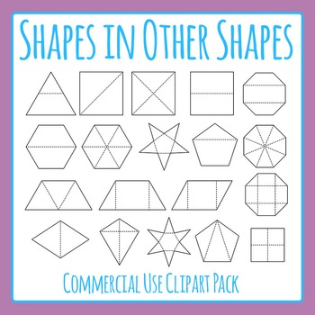 Finding Shapes in Other Shapes Commercial Use Clip Art Set
