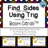 Finding Sides of Triangles Using Trig Boom Cards--Digital Task Cards