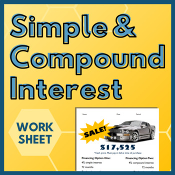 Finding Simple & Compound Interest - Car Activity