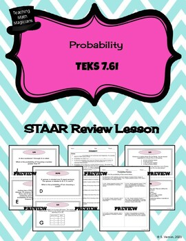 Finding Simple and Compound Probability - STAAR REVIEW LESSON - TEKS 7.6I