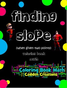 Finding Slope when Given 2 Points Coloring Book Fun with T