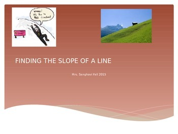 Finding Slope