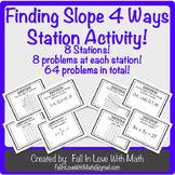 Finding Slope 4 Ways Station Activity