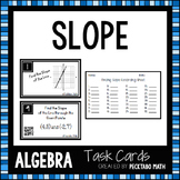 Finding Slope ALGBERA Task Cards with QR codes