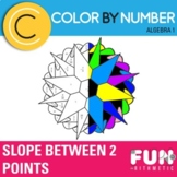 Finding Slope Between 2 Points Color by Number