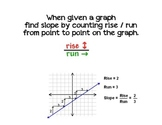 Finding Slope By Using Rise over Run