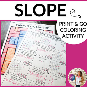Finding Slope Coloring By Number Activity By Hayley Cain Activity