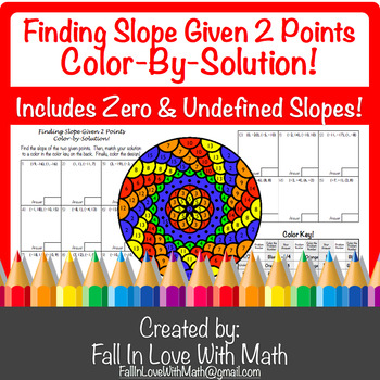 Finding Slope Given 2 Points Color-by-Number!