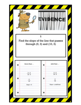 "Finding Slope Mixed Review ""He Said, She Said"" Error Analysis CSI Activity"