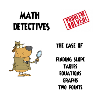 """Finding Slope Mixed Review """"He Said, She Said"""" Error Analysis CSI Activity"""