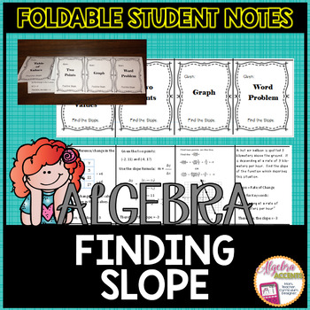 Finding Slope Notes Foldable