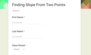 Finding Slope Personalized Learning
