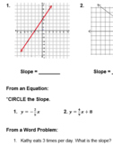 Finding Slope Practice Problems