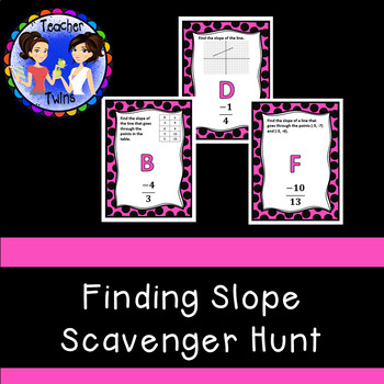 Finding Slope Scavenger Hunt