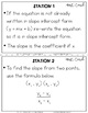 Finding Slope  : Middle School Math Stations