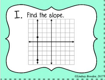 Finding Slope Task Cards