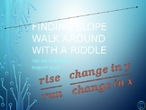 Identify Slope Walk Around or Gallery Walk with a Riddle
