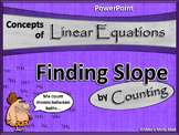 Linear Equations: Finding Slope by Counting (PowerPoint Only)