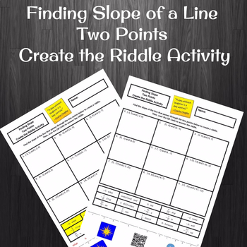 Finding Slope from Two Points Create a Riddle Activity