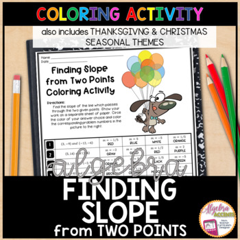 Finding Slope from Two Points Halloween / Thanksgiving Algebra Activity