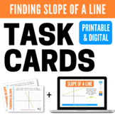 Finding Slope from a Graph Task Cards and Boom Cards