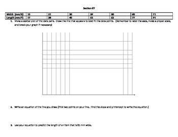Finding Slope (graph, table) & Writing Equations of Parallel/Perpendicular Lines