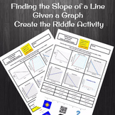 Finding Slope of a Graph Various Scales Create the Riddle Activity