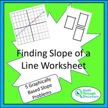 8th Grade:  Finding Slope of a Line Worksheet