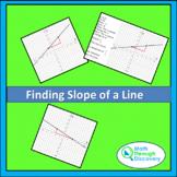 Algebra 1 - Finding Slope of a Line